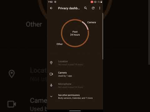 Android 12's new Privacy Dashboard