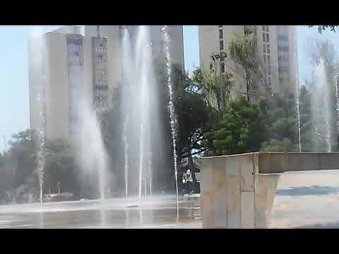 las fuentes de la plaza de la paz. en barranquilla