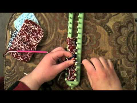 Loom Knit cast off Triple Rib Stitch bind off - YouTube