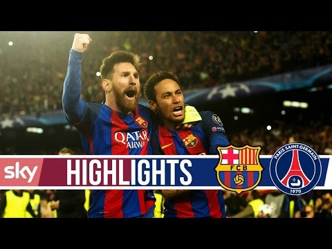 Barcelona Vs Paris Saint Germain 6-1 All Goals And Highlights  UCL 08 03 2017