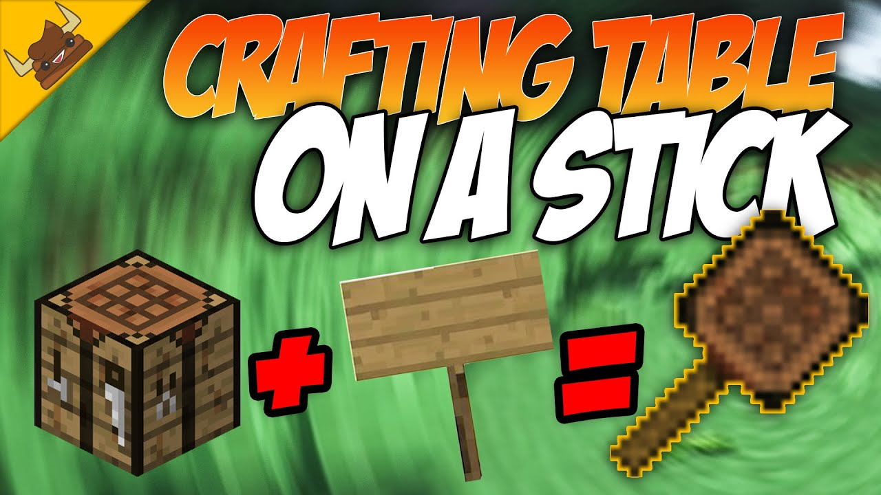 Minecraft Crafting Table On A Stick Tutorial Ftb Actually Additions Youtube