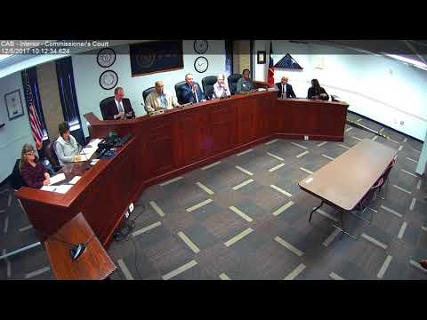Brazos County Commissioners Court 12-05-17