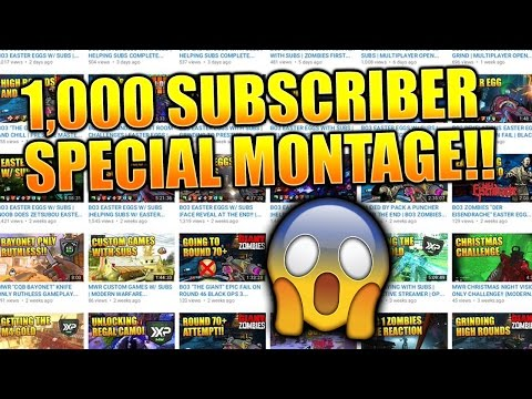 1,000 SUBSCRIBER SPECIAL MONTAGE!! | 1K SUBSCRIBERS VIDEO | THANK YOU GUYS!!
