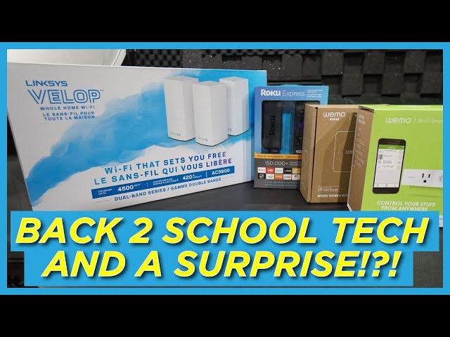 Back to School Must-Have Tech!!