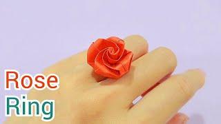장미반지 종이접기 Origami Rose Ring / …