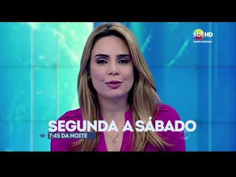 Chamada local do SBT Brasil - SBT SC abril