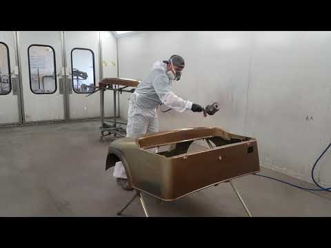 Painting Golf Cart with Axalta. Automotive painting