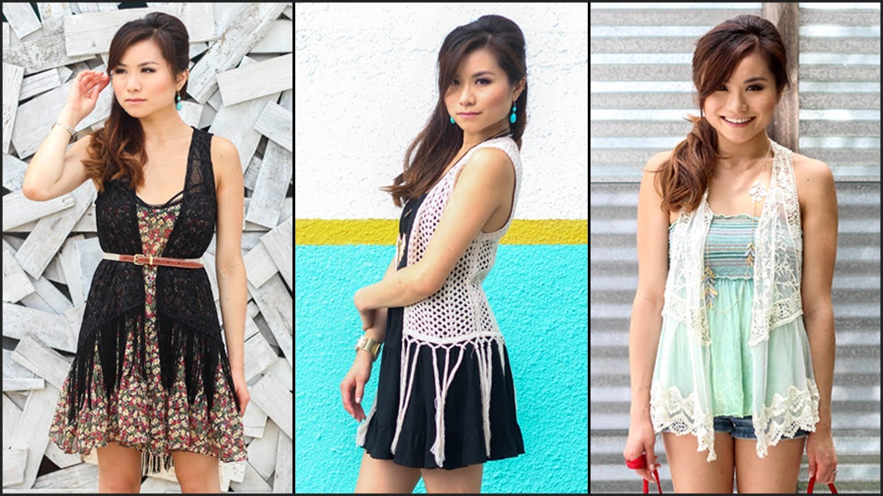 How To Wear Crochet & Fringe Vests