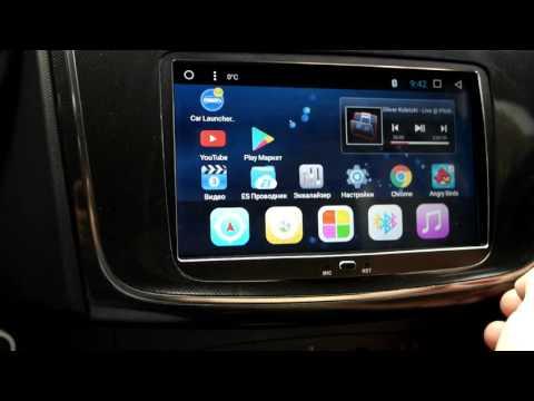 """Обзор штатной магнитолы 8""""дюймов Android 6.0.1 PENHUI для  Renault Captur/Duster/Sandero/logan"""