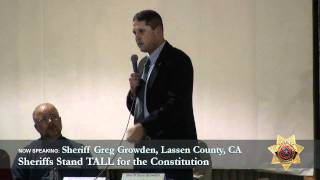 Sheriff Greg Growden, Lassen County CA
