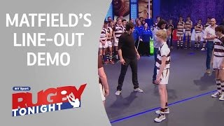 Line-out demo with Victor Matfield | Rugby Tonight