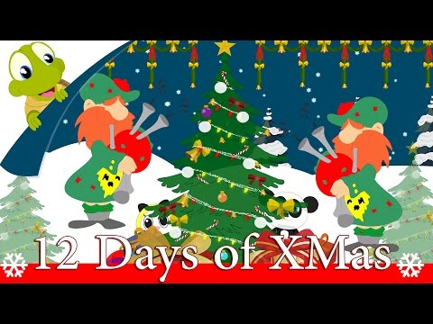 Twelve Days of Christmas | Christmas Carols with Lyrics by Turtle Interactive