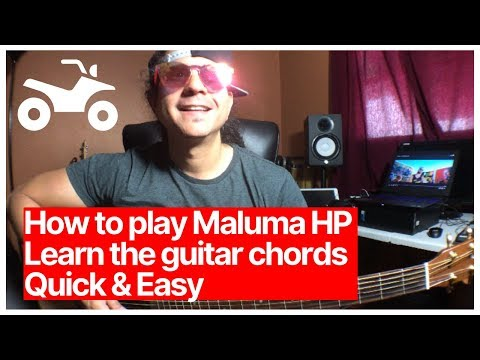 Maluma - HP Guitar Chords Lesson Tutorial Easy