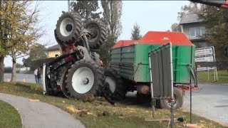 Hilariously Heavy Machines and Tractors Crash Compliation 2018