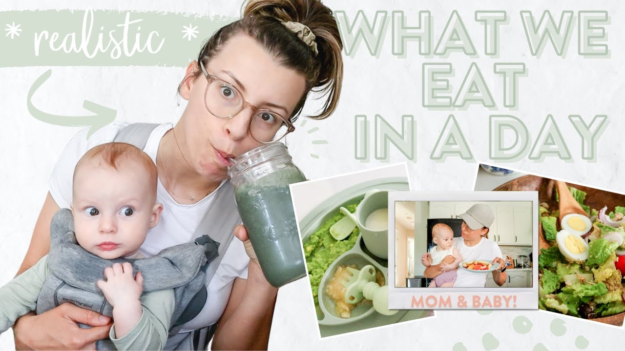 What Me and My 6 Month Old *ACTUALLY* Eat In a Day | Healthy & Realistic Meals