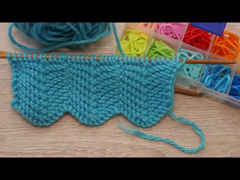 Узоры для шарфа спицами для девочки схемы и описание