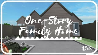 Roblox | Welcome to Bloxburg | One-Story Family Home | Speed-build | 45k