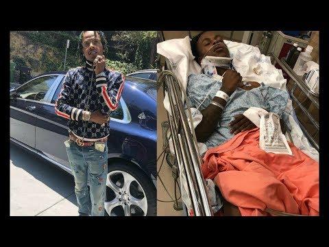 Rich the kid fini à l'hôpital après avoir été braqué et passé à tabac !