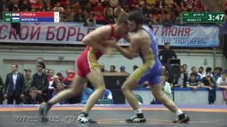 66 кг. Максим Сурков- Ален Мирзоян. За бронзу.