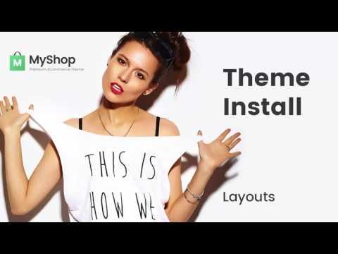 Myshop Shopify Theme Install Themeforest