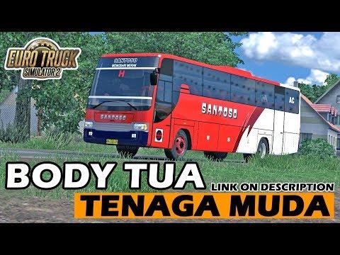 Bus Santoso Marco Trisakti, Libas Jalur Selatan - ETS 2 Mod Indonesia - 동영상