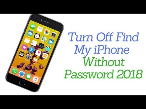 How to Turn Off Find My iPhone | Remove iCloud Account without Password 2018!