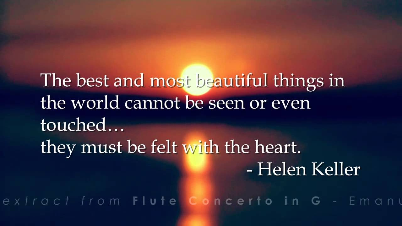 Daily Quote By Helen Keller Youtube
