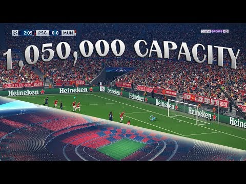 "PES 2018's Impossibly HUGE ""Ultimate Stage"" Stadium 