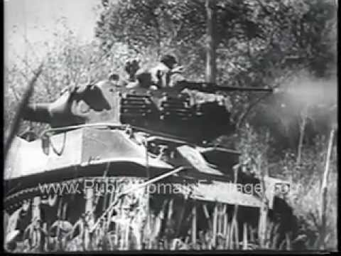 French Battle Communist in Indo China Newsreel PublicDomainFootage. com