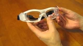 Sports silicone glasses-frames. Review in English