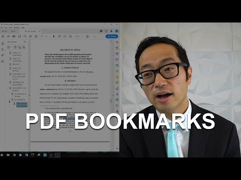 Add Bookmarks To A PDF - Adobe Acrobat DC