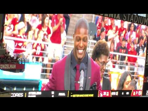 Adrian Wilson inducted into the Cardinals Ring of Honor