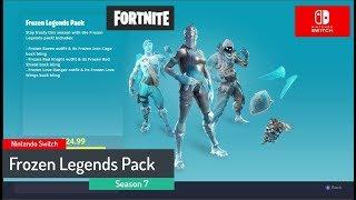 Frozen Legends Pack - Fortnite - Season 7 - Nintendo Switch gameplay
