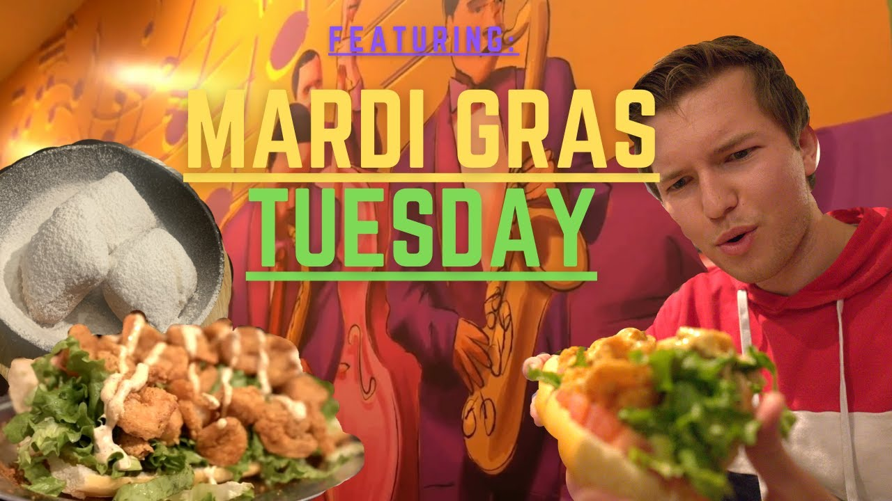 "HUGE SHRIMP PO' BOY at ""Mardi Gras Tuesday"""