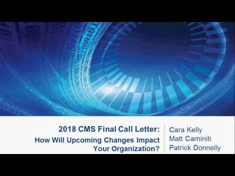 INV 2018 CMS Final Call Letter: How Will Upcoming Changes Impact Your Organization