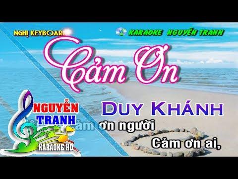 [Karaoke nhạc sống] Cảm Ơn - Duy Khánh (beat mới)