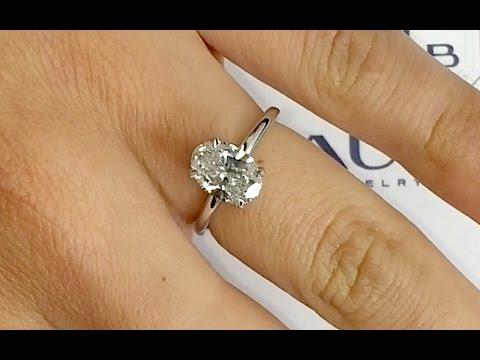 170 ct oval diamond engagement ring youtube jewelers nyc diamonds junglespirit Choice Image