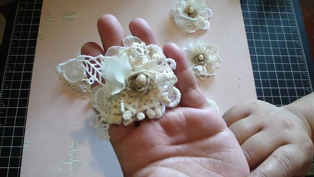 Vintage Handmade Flower Using Your Lace Remains YouTube
