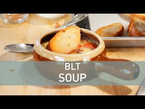 Food Deconstructed: Bacon and tomato soup with braised greens