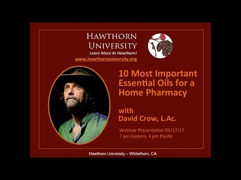 10 Most Important Essential Oils for a Home Pharmacy with David Crow, L.Ac.