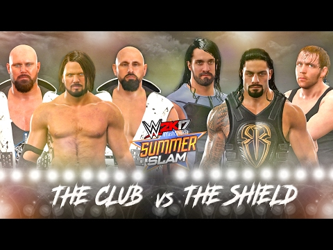 WWE 2K17 The Club vs The Shield - ELIMINATION TAG MATCH | WWE 2K17 PS4 Gameplay
