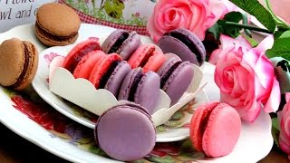 How To Make French Macarons 法式馬卡龍   朱古力馬卡龍 - JosephineRecipes.co.uk