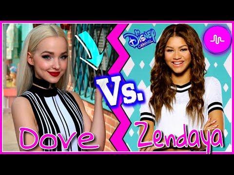 Disney Descendants Dove Cameron VS KC Undercover Zendaya Musical.ly Battle | Disney Girls Musically