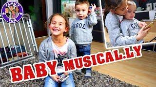Miley & Baby Berat im Musically Duett 💃 Vlog#154   Family Fun