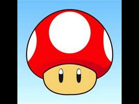 How To Draw A Mushroom Out Of Mario Youtube