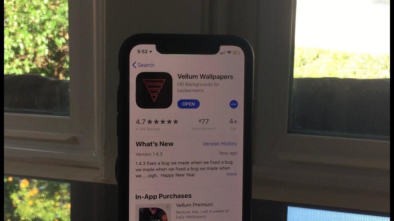 The Vellum Wallpaper App Youtube