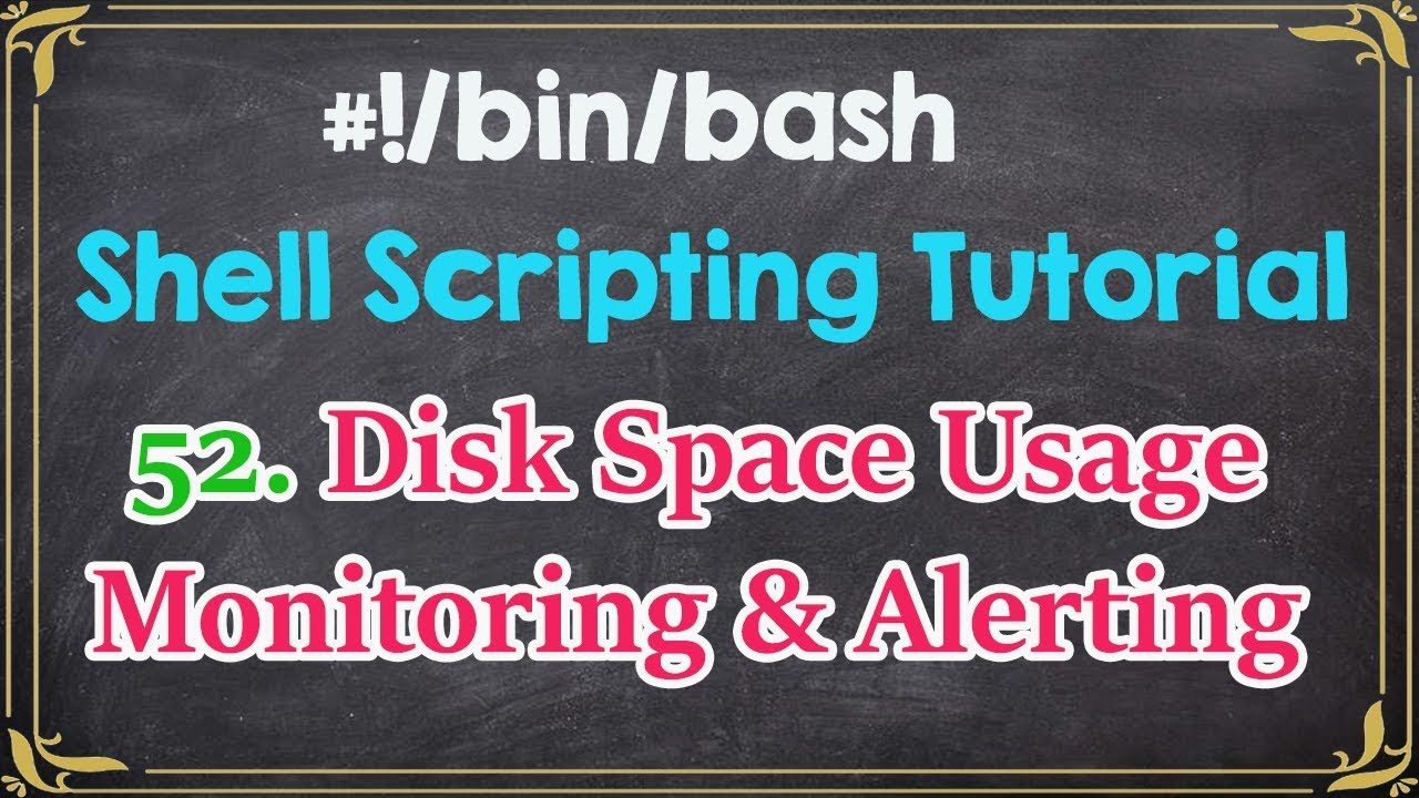 Monitoring Disk Space utilization and Send Email Alert