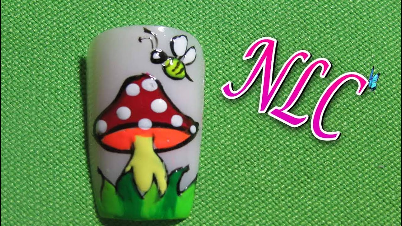 Decoracion de uñas Hongo- Fungus Nail Art - Reto ABC H De Hongo ...