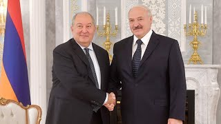Саркисян и Лукашенко обменялись подарками. Смотрите, что дарили Президенты
