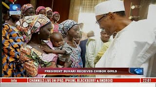 News@10: President Buhari Receives Chibok Girls 19/10/16 Pt. 1